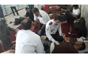 مسمومیت غذایی ۱۱ نفر از کارکنان یکی از محل های طبخ غذا در پایانه مرزی مهران + عکس