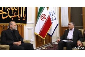دیدار لاریجانی با رئیس جهاد دانشگاهی