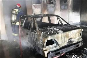 ۸ دستگاه خودرو در اهواز طعمه حریق شدند
