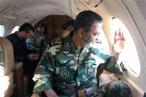 فرمانده ارتش برای بررسی وضعیت زلزله زدگان عازم کرمانشاه شد
