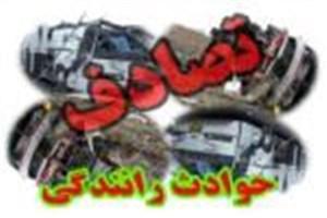 مصدومیت 12 نفر در برخورد 2 خودرو در کرمان