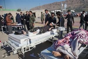 برپایی بیمارستان صحرایی ارتش در مناطق زلزله زده