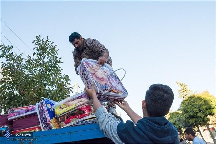 جمع آوری کمک های مردمی به زلزله زدگان توسط مردم استان کرمانشاه