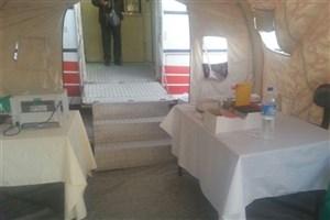 بهرهمندی بیش از ۱۰۰ زلزلهزده از بیمارستان صحرایی اورژانس قزوین