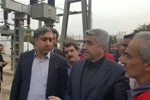 بازدید وزیر نیرو از شهر زلزلهزده سرپلذهاب