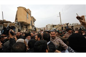 Iran's Leader Visits Earthquake-Hit Kermanshah