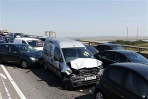 تصادف زنجیره ای در محور جاده اهواز - رامشیر