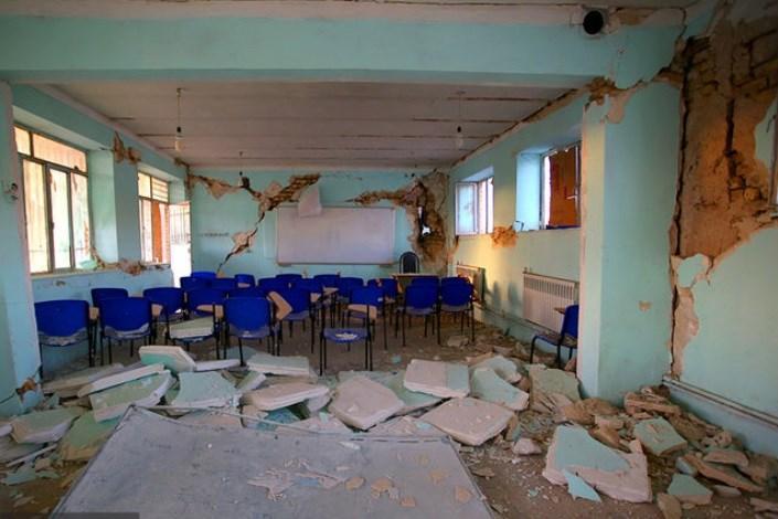 تخریب مدارس در زلزله