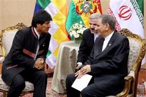 جهانگیری: حل موانع بانکی برای توسعه مناسبات با بولیوی ضروری است