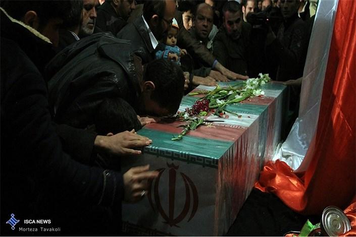 تدفین و تشییع شهدای گمنام در واحد خمین دانشگاه آزاد اسلامی