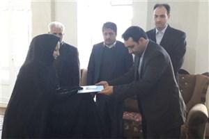 دیدار هیأت رئیسه واحد پارس آباد با خانواده معظم شهید صوری