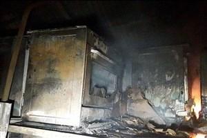 آتش سوزی وسیع در انبار کارخانه سینجرگاز