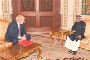 وزیر خارجه بریتانیا با پادشاه عمان دیدار کرد