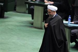 روحانی صحن علنی مجلس را ترک کرد