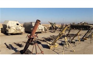 کشف انبار مهمات داعش در دیرالزور+ فیلم
