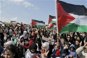 تظاهرات اعتراضی فلسطینیان  در غزه