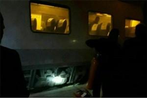 مهار آتش سوزی قطار پردیس در ایستگاه گرمسار