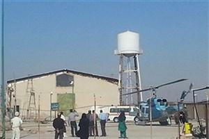انتقال بیمار سوختگی با بالگرد از بوشهر به گناوه