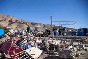 توزیع۵۹۴ کانکس در روستاهای زلزله زده کرمانشاه