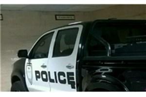 توقیف خودروی تویوتا هایلوکسی که با آرم پلیس تردد میکرد