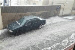 بارش باران و تگرگ در جنوب کشور/ شهرهای بزرگ همچنان آلوده
