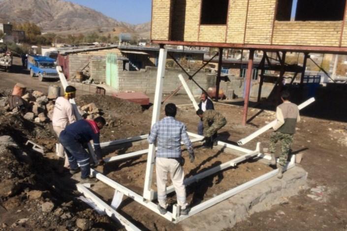 نصب 120 کانکس در روستای شیخ سله کرمانشاه