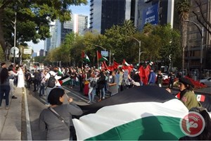 تظاهرات گسترده ضد صهیونیستی در مکزیک