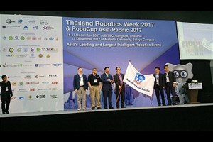 Qazvin IAU Receives RoboCup Asia-Pacific Flag