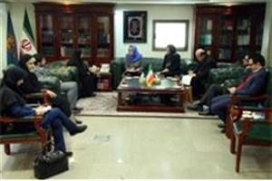 دیدار رئیس مرکز اطلاعات سازمان ملل  با اشرف بروجردی