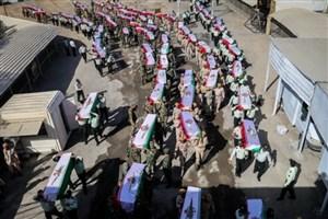 پیکر گلگون کفن ۵۵ شهید ایرانی وارد خاک کشورمان شد