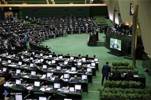 تجمع اعتراضی نمایندگان استان خوزستان برای بحران ریزگردها در جایگاه هیاترئیسه مجلس