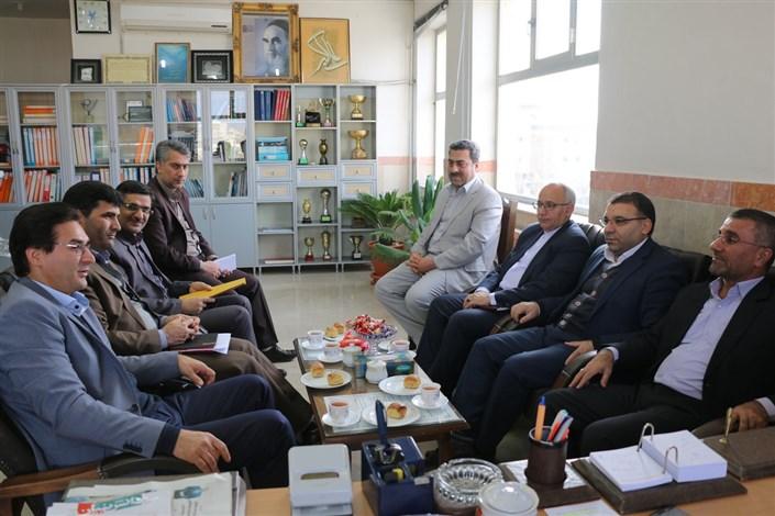 دیدار دکتر رسولی با رئیس اداره امور شعب بانک ملی استان اردبیل