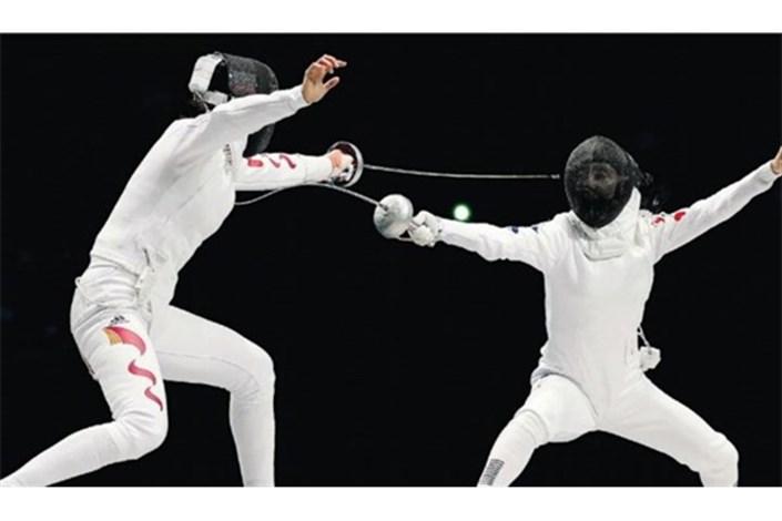 رقابت پاکدامن و عابدینی در مسابقات شمشیربازی جام جهانی سابر