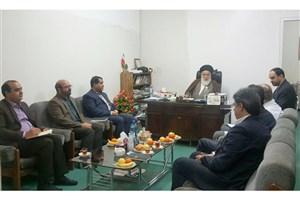 دیدار صمیمی رئیس و هیات رئیسه دانشگاه آزاد اسلامی استان قم با آیت الله گلپایگانی