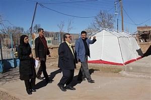 بازدید مشاور معاون بهداشت از اقدامات انجام شده در مناطق زلزله زده کرمان