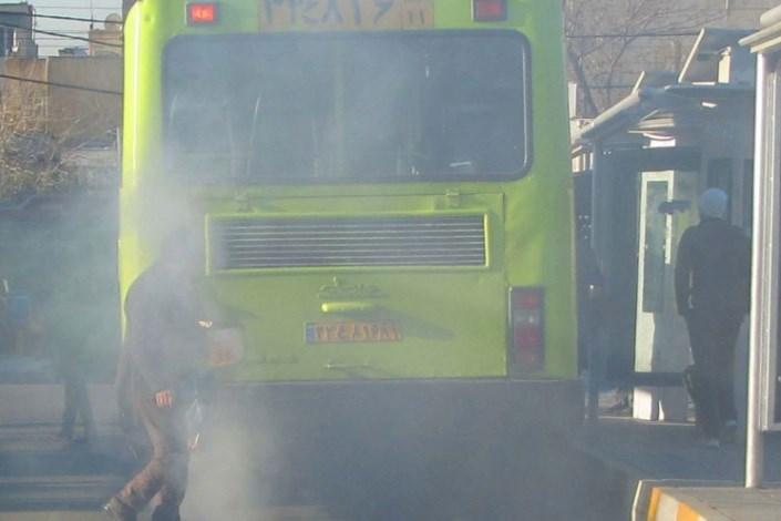 اتوبوس آلودگی هوا