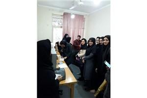 بازدید علمی دانشجویان دانشگاه آزاد واحد بندرگز از انجمن نابینایان گرگان
