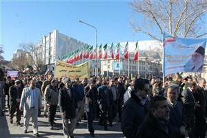 راهپیمایی دانشگاهیان آزاد اسلامی  واحد سنندج در محکومیت اغتشاشات اخیر