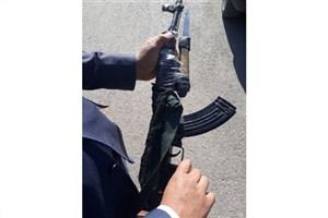 دستگیری سارق باغ مرکبات  که با اسلحه کلاشینکف اسباب بازی مردم را می ترساند