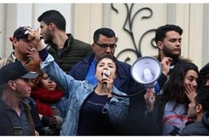 ادامه درگیری پلیس تونس با معترضان