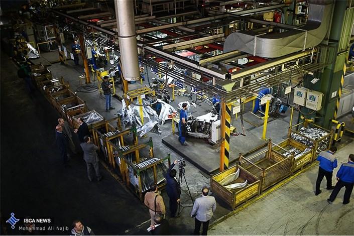 خط تولید دنا+ و 207i SD در ایران خودرو