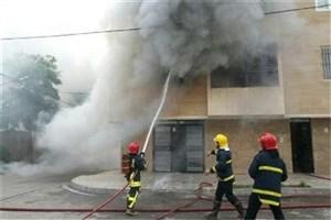ساختمان مسکونی 4 طبقه آتش گرفت/ ۵ نفرمصدوم شدند