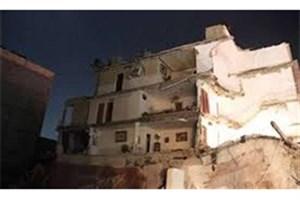 ساختمان  3 طبقه خالی از سکنه در مهرآباد جنوبی تهران فرو ریخت