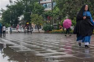 آغاز بارش در سواحل خزر/ تهران دوشنبه باران می بارد