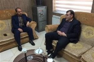 دیدار رئیس دانشگاه آزاد اسلامی میاندوآب با رئیس شهرک صنعتی