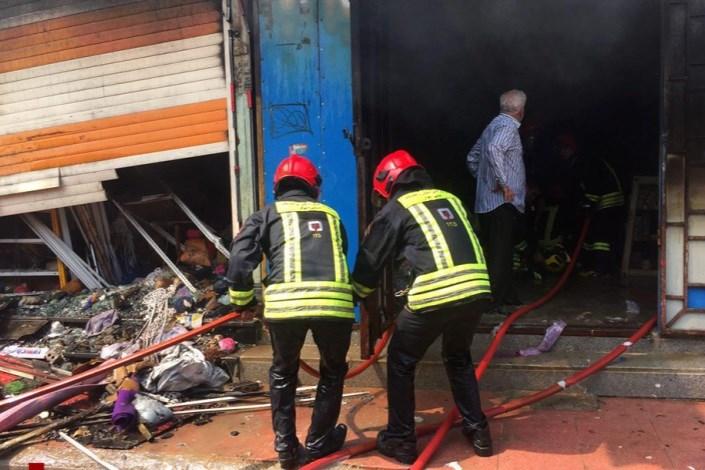 جزئیات آتش سوزی یک پاساژ در کوچه برلن