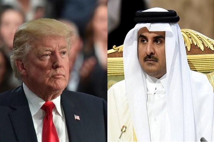 گفتگوی تلفنی امیر قطر و رئیس جمهور آمریکا