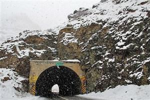 بارش برف در محور چالوس/مه گرفتگی در محورهای گیلان و اردبیل