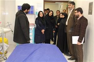 نمایندگان وزارت بهداشت،درمان و آموزش پزشکی از دانشگاه آزاداسلامی واحد مینودشت بازدید کردند
