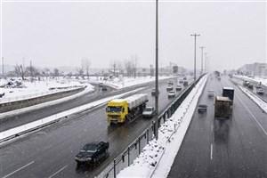 بارش برف در اکثر محور های استان خراسان شمالی